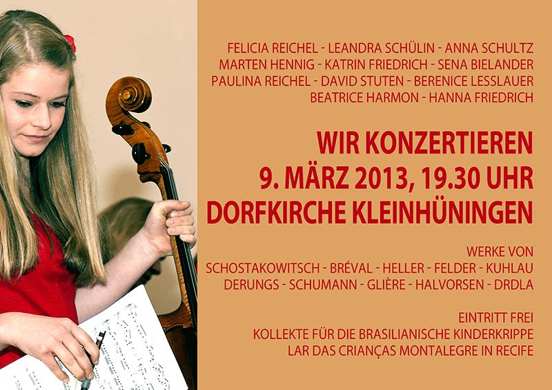 Jugendkonzert vom 9. März 2013 in der Dorfkirche Kleinhüningen