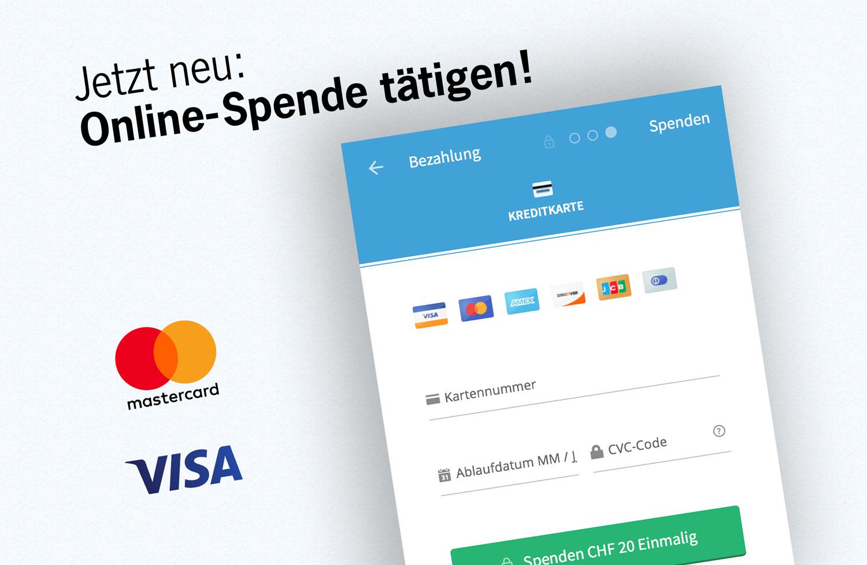 Neu: Online-Spende tätigen